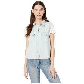 リーバイス Levi's Womens レディース ノースリーブ トップス【Sleeveless Maddie Shirt】Frances Blue