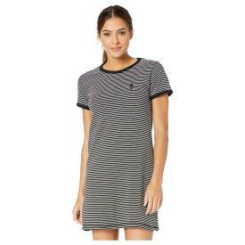 ハーレー Hurley レディース ワンピース ワンピース・ドレス【Rose Stripe Tee Dress】Black