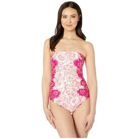 ラルフ ローレン LAUREN Ralph Lauren レディース ワンピース 水着・ビーチウェア【engineered hawaiian bandeau underwire one-piece】Pink