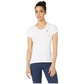 アシックス ASICS レディース トップス Vネック【short sleeve v-neck top】Brilliant White