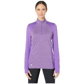 アディダス adidas Golf レディース トップス ハーフジップ【Rangewear Layering 1/2 Zip】Active Purple