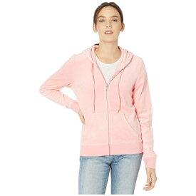 ジューシークチュール Juicy Couture レディース パーカー トップス【Robertson Velour Jacket】Sorbet Pink