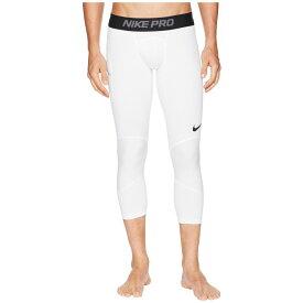 ナイキ Nike メンズ バスケットボール タイツ・スパッツ スパッツ・レギンス ボトムス・パンツ【Dry 3/4 Basketball Tights】White/Black