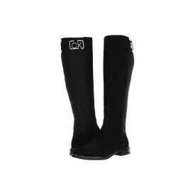 カルバンクライン Calvin Klein レディース ブーツ シューズ・靴【Ada】Black Suede/Neoprene