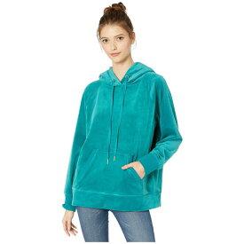 ジューシークチュール Juicy Couture レディース パーカー トップス【Luxe Velour Hooded Pullover】Castle Green