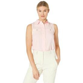 トミー ヒルフィガー Tommy Hilfiger レディース ノースリーブ トップス【Collared Button Front Sleeveless Blouse】Ballerina Pink