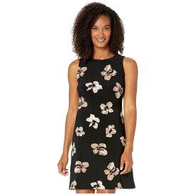 トミー ヒルフィガー Tommy Hilfiger レディース ワンピース ワンピース・ドレス【Collegiate Floral A-Line Dress】Black/Khaki