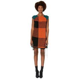 メゾン マルジェラ MM6 Maison Margiela レディース ワンピース ワンピース・ドレス【Oversized Check Dress】Mixed Black/Orange/Green
