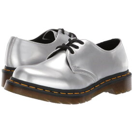 ドクターマーチン Dr. Martens レディース ローファー・オックスフォード シューズ・靴【1461 Vegan Metallic Chrome】Silver