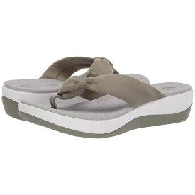 クラークス Clarks レディース ビーチサンダル シューズ・靴【Arla Glison】Dusty Olive Solid Textile