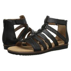 クラークス Clarks レディース サンダル・ミュール シューズ・靴【Kele Lotus】Black Leather