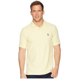 ユーエスポロアッスン U.S. POLO ASSN. メンズ ポロシャツ トップス【Ultimate Pique Polo Shirt】Lemon Frost