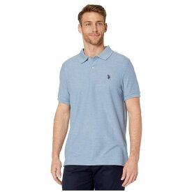ユーエスポロアッスン U.S. POLO ASSN. メンズ ポロシャツ トップス【Ultimate Pique Polo Shirt】Hill Blue Heather