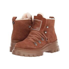 カルバンクライン Calvin Klein レディース ブーツ シューズ・靴【Lark】Russet High Suede Shearling