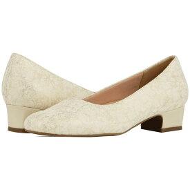 トロッターズ Trotters レディース パンプス シューズ・靴【Doris】Off-White/Gold
