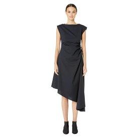 メゾン マルジェラ MM6 Maison Margiela レディース ワンピース ワンピース・ドレス【Ruched Asymmetrical Hem Dress】Dark Blue