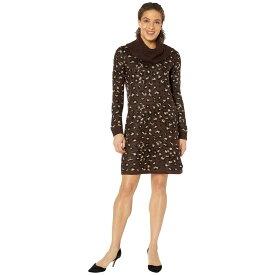 トミー ヒルフィガー Tommy Hilfiger レディース ワンピース ワンピース・ドレス【Leopard Cowl Neck Sweater Dress】Mink Multi