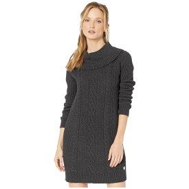 トミー ヒルフィガー Tommy Hilfiger レディース ワンピース ワンピース・ドレス【Cable Knit Cowl Neck Sweater Dress】Charcoal