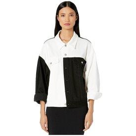 メゾン マルジェラ MM6 Maison Margiela レディース ジャケット Gジャン アウター【Oversized Denim Jacket】White/Black
