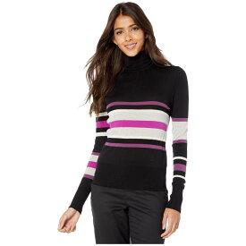 メゾン マルジェラ MM6 Maison Margiela レディース ニット・セーター トップス【Multi Stripe Turtleneck Sweater】Black/Grey/White