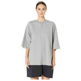 メゾン マルジェラ MM6 Maison Margiela レディース ワンピース スウェットワンピ ワンピース・ドレス【Split Hem Sweatshirt Dress】Grey Melange