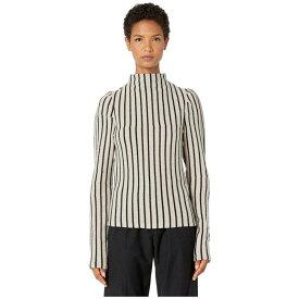 メゾン マルジェラ MM6 Maison Margiela レディース ニット・セーター トップス【Striped Turtleneck Sweater】Biege Striped/Black