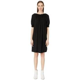 メゾン マルジェラ MM6 Maison Margiela レディース ワンピース シャツワンピース ワンピース・ドレス【Pleated Shirtdress】Black