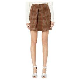 メゾン マルジェラ MM6 Maison Margiela レディース スカート 【Center Pleat Skirt】Brown Check
