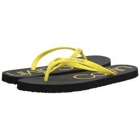 カルバンクライン Calvin Klein レディース ビーチサンダル シューズ・靴【Salma】Black/Fluorescent Yellow
