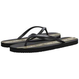 カルバンクライン Calvin Klein レディース ビーチサンダル シューズ・靴【Sabado】Black/Scuba Yellow