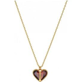 ケイト スペード Kate Spade New York レディース ネックレス ハート ジュエリー・アクセサリー【Rock Solid Stone Heart Mini Pendant Necklace】