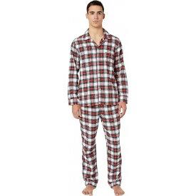 ジェイクルー J.Crew メンズ パジャマ・上下セット インナー・下着【Flannel Pajama Set in Snowy Stewart Tartan】Red/Navy Plaid