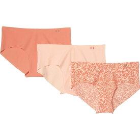 アンダーアーマー Under Armour レディース ショーツのみ 3点セット インナー・下着【Pure Stretch Hipster 3-Pack Print】Calla/Blush Orange/Blush Orange