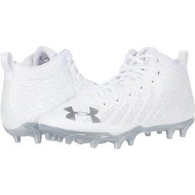 アンダーアーマー Under Armour メンズ アメリカンフットボール シューズ・靴【UA Spotlight Select Mid MC】White/White/Metallic Silver