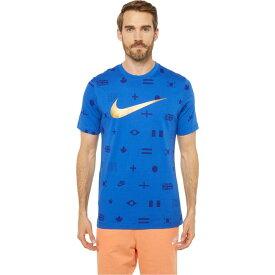ナイキ Nike メンズ Tシャツ トップス【NSW Tee Preheat All Over Print】Game Royal