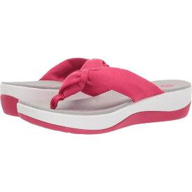 クラークス Clarks レディース ビーチサンダル シューズ・靴【Arla Glison】Bright Rose Solid Textile