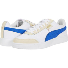 プーマ PUMA メンズ スニーカー シューズ・靴【Court Legend Lo CV】Puma White/Dazzling Blue/Tapioca/Puma Team Gold/Hot Coral