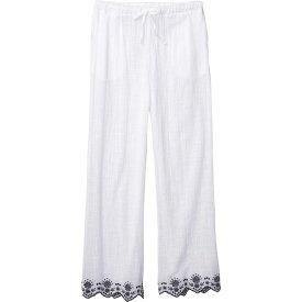 ドッティ DOTTI レディース ビーチウェア ワイドパンツ ボトムス・パンツ 水着・ビーチウェア【Rosemary Embroidery Wide Leg Pants Cover-Up】White