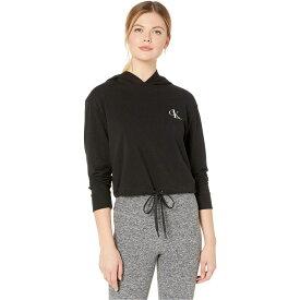 カルバンクライン Calvin Klein Underwear レディース パーカー トップス【One Basic Lounge French Terry Long Sleeve Hoodie】Black
