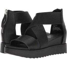 スティーブン ニューヨーク STEVEN NEW YORK レディース サンダル・ミュール ウェッジソール シューズ・靴【NC-Klein Wedge Sandal】Black Leather