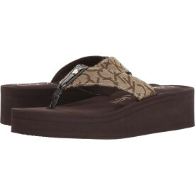 カルバンクライン Calvin Klein レディース ビーチサンダル シューズ・靴【Mulan CK Logo】Brown