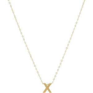 エイブル ABLE レディース ネックレス チャーム ジュエリー・アクセサリー【Letter Charm Necklace: X】Gold-Filled/Vermeil