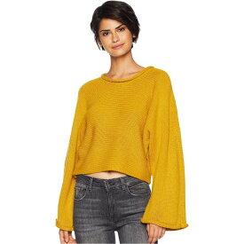 ビービーダコタ BB Dakota レディース ベアトップ・チューブトップ・クロップド トップス【BB Talk Jersey Stitch Cropped Sweater】Marigold