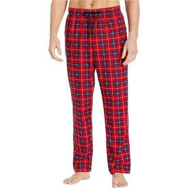 ノーティカ Nautica メンズ パジャマ・ボトムのみ インナー・下着【Plaid Cozy Fleece Pajama Pants】Red