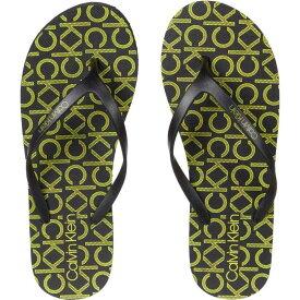 カルバンクライン Calvin Klein レディース ビーチサンダル シューズ・靴【Sarmine】Black/Fluorescent Yellow