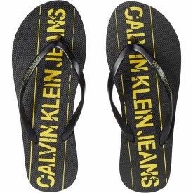カルバンクライン Calvin Klein レディース ビーチサンダル シューズ・靴【Dasheen】Black/Blazing Yellow