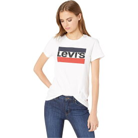 リーバイス Levi's Womens レディース Tシャツ トップス【Perfect Graphic Tee】Sportswear Logo White