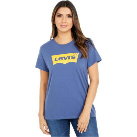 リーバイス Levi's Womens レディース Tシャツ トップス【The Perfect Tee】Batwing Blue Indigo