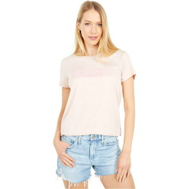 リーバイス Levi's Womens レディース Tシャツ トップス【The Perfect Tee】Sepia Rose DTM Paper Flock Box Tab