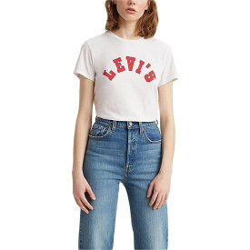 リーバイス Levi's Womens レディース Tシャツ トップス【The Perfect Tee】Varsity Logo White